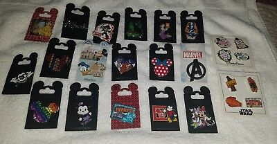 Disney Parks Trading Pin lot of 25 Rack Pins New on cards  AUTHENTIC
