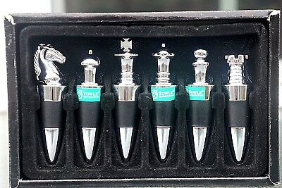 6 New Towle Chess Themed Bottle Stoppers