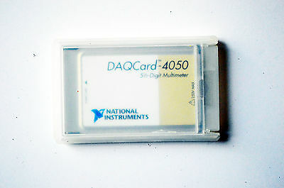 National Instruments NI PCMCIA-4050 5.5 Digit Multimeter, NI DMM, DAQCard-4050