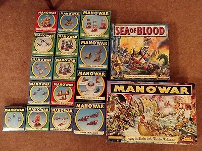 Man O War Game + Various Models. Games Workshop