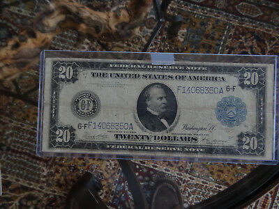 1914 $20 federal Reserve Note from Atlanta