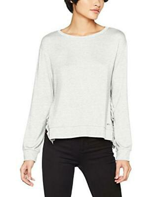 (TG. 36 (Taglia Produttore: Small)) Tom Tailor Denim Sweat with Rib Ruffles, Fel