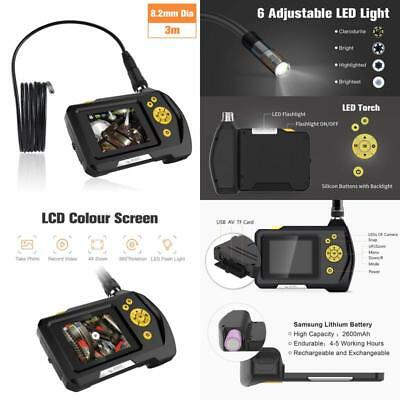 Industrial Endoscope Waterproof Borescope W/ 6 Led Lights And Color Lcd Screen