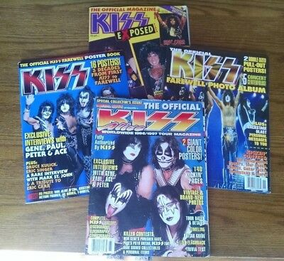 LOT 4 - Kiss Magazines - Exposed 87 / 96/97 Tour / Farewell Photo & Poster 2000