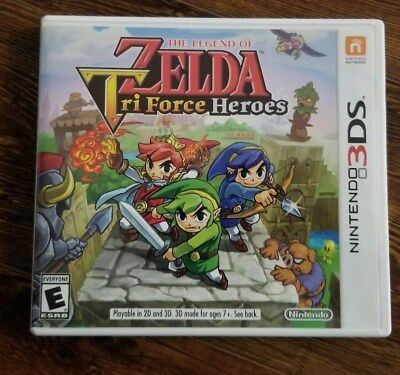 Legend of Zelda: Tri Force Heroes (Nintendo 3DS, 2015) Adult Owned - Barely Used