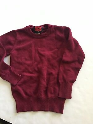 Super Charged Boys Sweater Size 4T Maroon