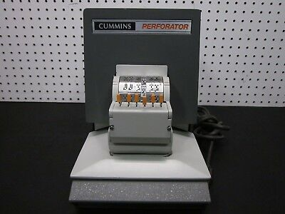 CA Cummins 304 Industrial Approved Date Perforating Machine *TESTED & WORKING*