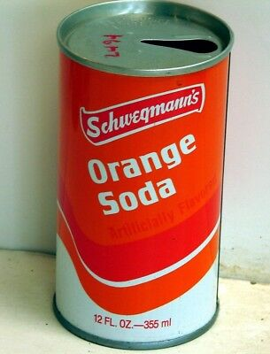 Schwegmann Orange Soda; Lastarmco, Inc.; Abbevillle, LA; Steel Soda Pop Can
