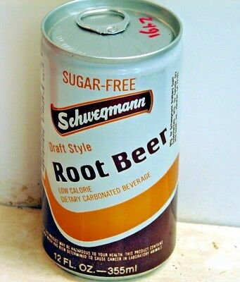Schwegmann Sugar-Free Root Beer; Canada Dry Mid-South; Harahan, LA; Soda Pop Can