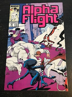 Alpha Flight#54 Awesome Condition 8.0(1988) Nowlan Cover!!