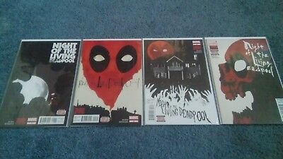 Night of the Living Deadpool Comic Book Lot Miniseries #1-4 First Print COMPLETE