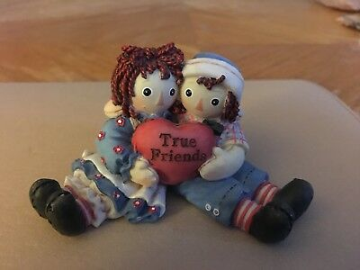"Simon & Schuster Enseco Raggedy Ann and Andy Figurine ""True Friends"" Collectible"