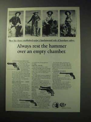 1986 Colt Revolvers Ad - Rest Over an Empty Chamber