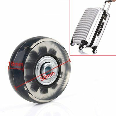 1 Pair Luggage Suitcase Replacement Wheels Axles 30 Deluxe Repair 50x18mm