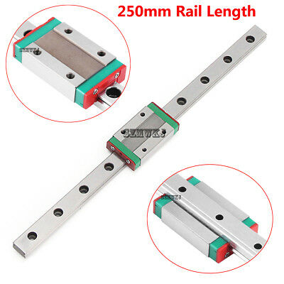 MGN12H 250mm Mini Linear Slide Rail Guide + Sliding Block for CNC 3D Printer DIY