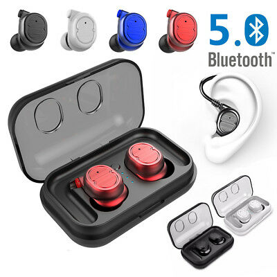 Sports Waterproof Bluetooth 5.0 Wireless Headset earbuds earphone charger case