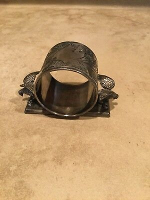 Antique Victorian Silver-Plate Figural Doves Napkin Ring Middletown Plate Co
