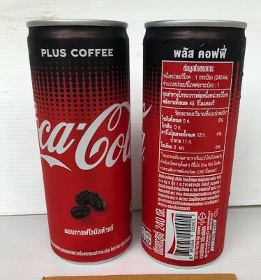 2 cans: COCA COLA Plus COFFEE CAN 240ML lot from Thailand 2018