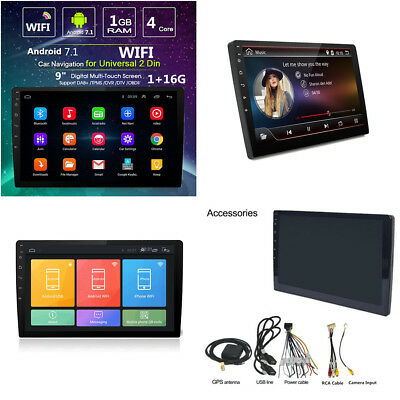 "9"" Quad-Core HD 2Din Car Navigation Stereo MP5 Player GPS Wifi Android 7.1+16G"