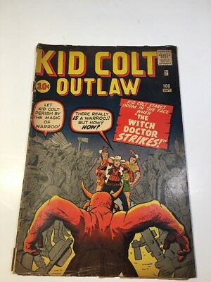 Kid Colt Outlaw # 100 Ungraded, Stan Lee & Jack Keller, The Witch Doctor Strikes