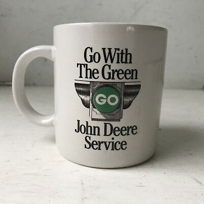 "vintage John Deere Service mug ""Go With The Green"" used"