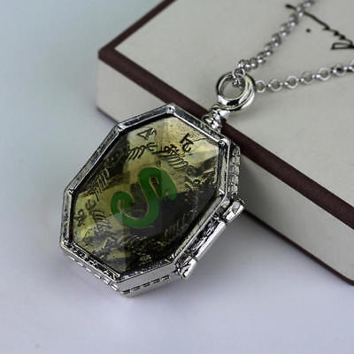 Harry Potter Prop Slytherin Horcrux Locket Pendant Necklace Lord Voldermort Xmas