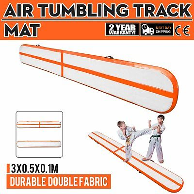 10Ft Air Track Floor Tumbling Inflatable Gym Mat PVC 3.9in Thick Gymnastic