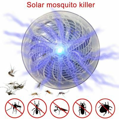 Solar Powered Buzz UV Lamp Light Fly Insect Bug Mosquito Kill Zapper Killer GY