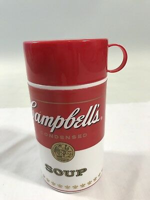 """2010 Campbell's Condensed Soup Can-Tainer Thermos 11.5 oz 6 1/2"""" - Collectaibles"""