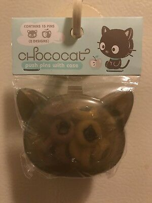 Cute Vintage Sanrio Chococat Push Pins With Case Box Collector's Item
