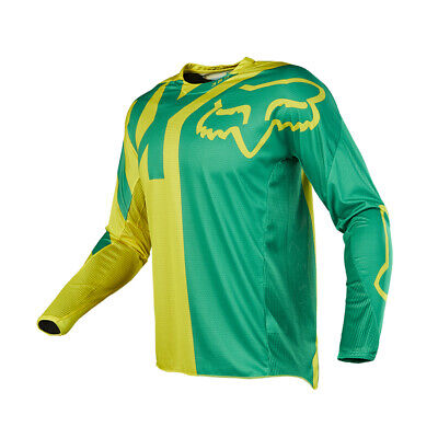 Fox Racing 360 Preme 2018 Jersey Green / Yellow - Aussie Size Adult Large