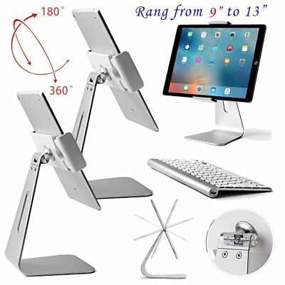 """2pcs Aluminum Alloy 360 degree Table Stand Desk Mount Holder For 9-13"""" ipad WX"""