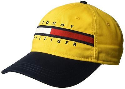 9cde52b9ce8 Tommy Hilfiger Mens Ardin Dad Baseball Cap 100% Cotton Yellow One Size