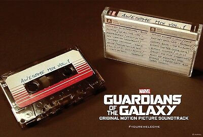 🔥 Guardians of the Galaxy Awesome Mix Vol 1 Soundtrack Cassette Tape Cosplay