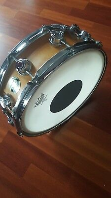 """DW Snare Drum 14"""" x 5"""" All-Maple Shell Satin Oil Natur Shell # D PURESOUND Wires"""
