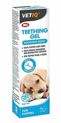 VetIQ Puppy Teething Gel for Dogs Puppies 50g Dental Oral SAMEDAY DISPATCH