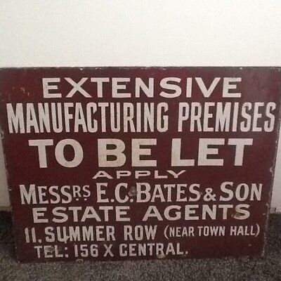 antique vintatage double sided enamel sign from London