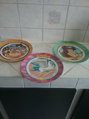 Hercules McDonalds Plates Set Of 3 1997 Disney Excellent Pre-Owned Condition