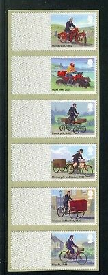 2018: Post & Go: Mail By Bike - Strip Of Six Blank Labels