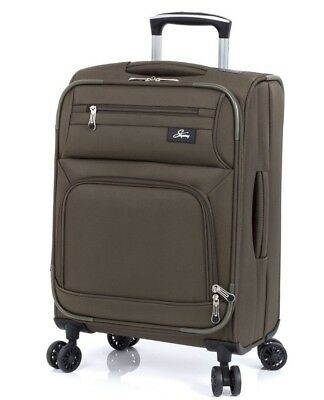 """Skyway Luggage Sigma 5.0 21"""" Spinner Carry on - Forest Green"""