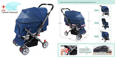 Wooce animal domestique Four-wheeled chariot Chats Chiens carts antichoc...