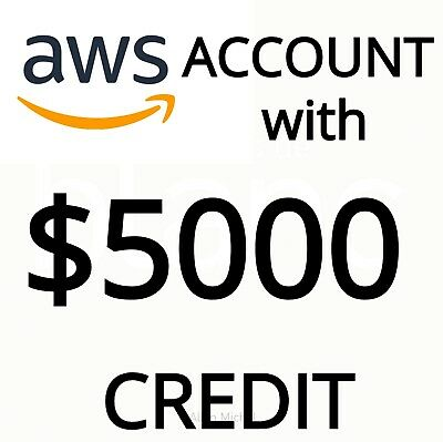 AWS Accounts with $5000 credits