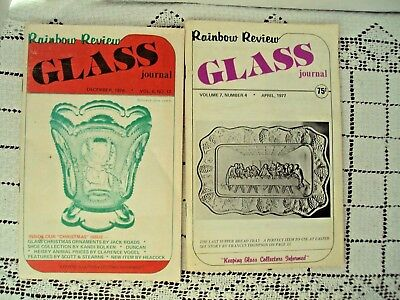 Rainbow Review Glass Journal Magazines December 1976 and  April 1977 Made in USA