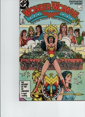 WONDER WOMAN #1 (Feb 1987, DC) 1st ISSUE OF 2ND SERIES! PEREZ-VF+