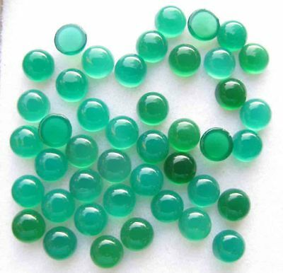 21.00 Cts GENUINE NATURAL GREEN ONYX ROUND CABOCHON LOOSE GEMSTONE LOT