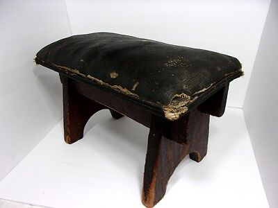 VTG Country Arts and Crafts Mission Style Craftsman Era Footstool Ottoman