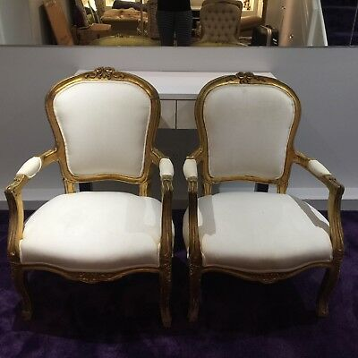 Pair Of Antique French Louis XV Chairs