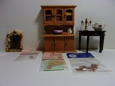Dollhouse Miniature 1 inch scale Mixed Lot Furniture and Accessories
