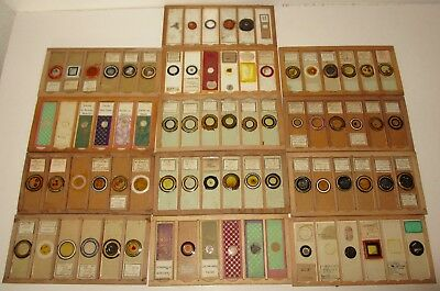 Boxed Antique / Vintage 78 Glass Microscope Slides