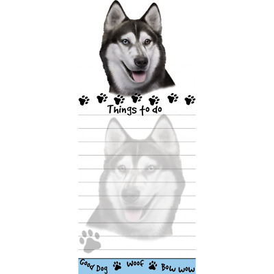 Siberian Husky Magnetic Post It Dog Breed Stationery Notepad